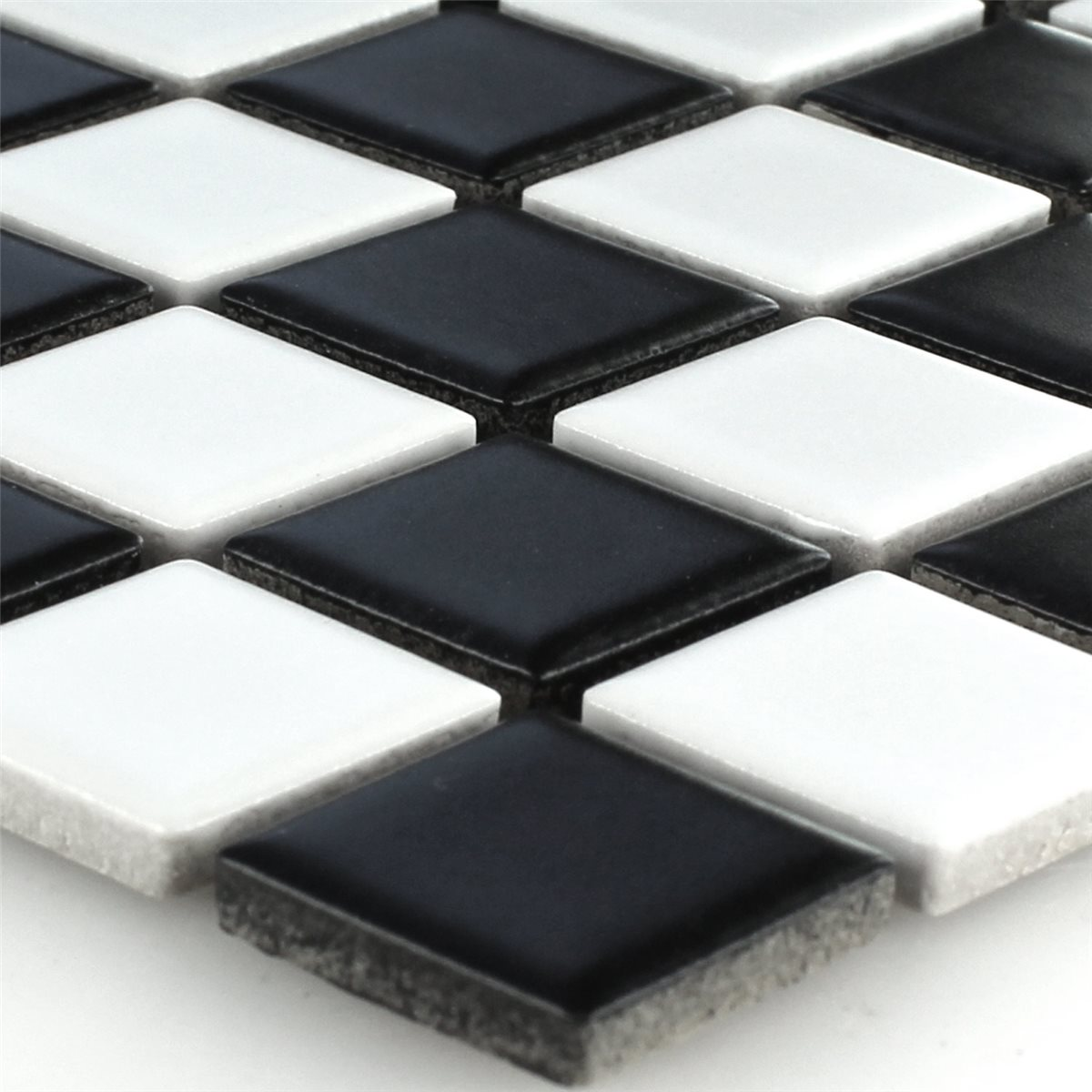 ceramic mosaic backsplash chess board mat. Black Bedroom Furniture Sets. Home Design Ideas