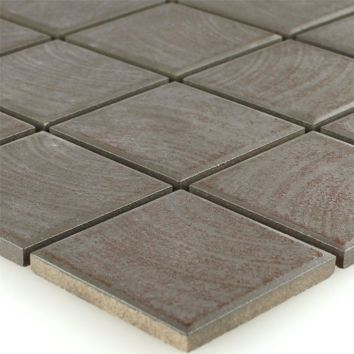 Ceramic mosaic tiles non slip brown structured www for Ceramic tile