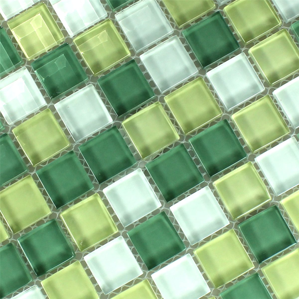 Crystal Glass Mosaic Tile Yellow Green 25x25x8mm Www