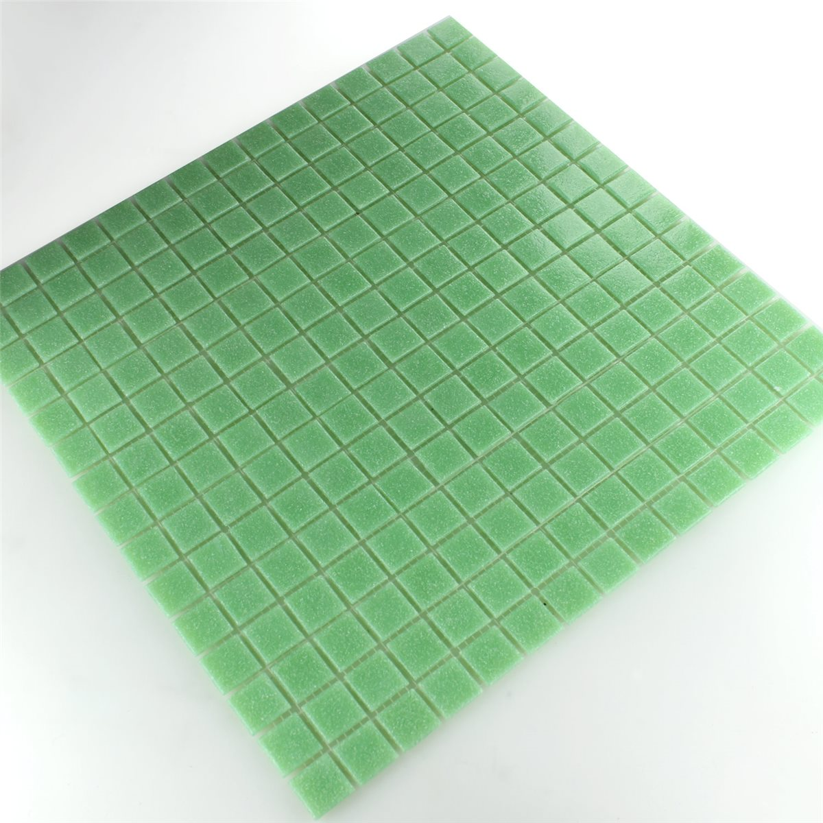 glass mosaic tiles 20x20x4mm light green. Black Bedroom Furniture Sets. Home Design Ideas
