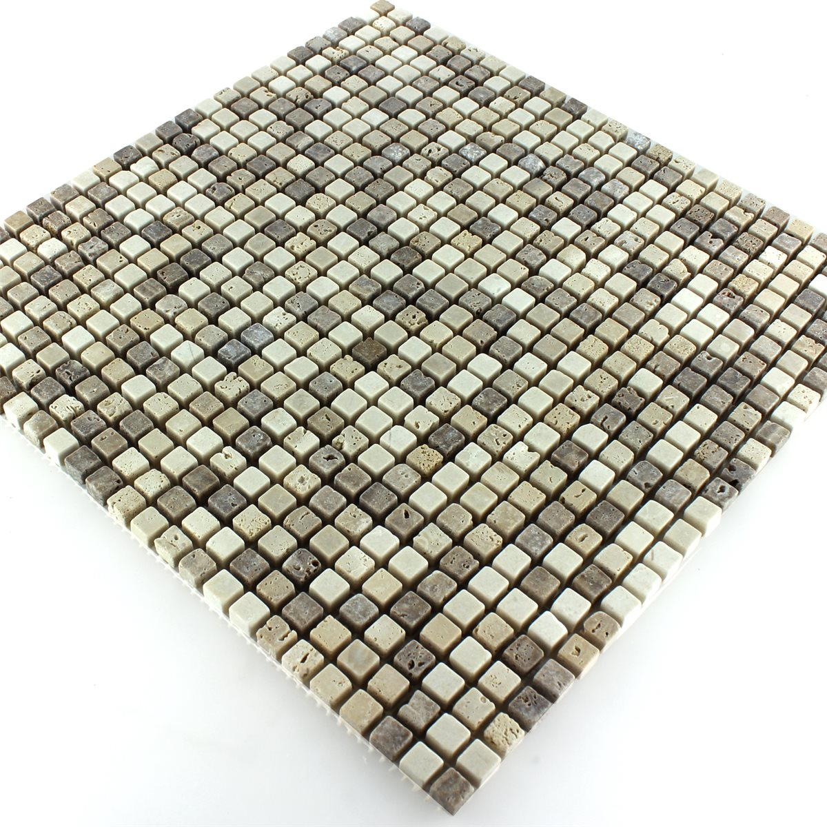 Travertine Mosaic Micro Brown Beige-MT51267m