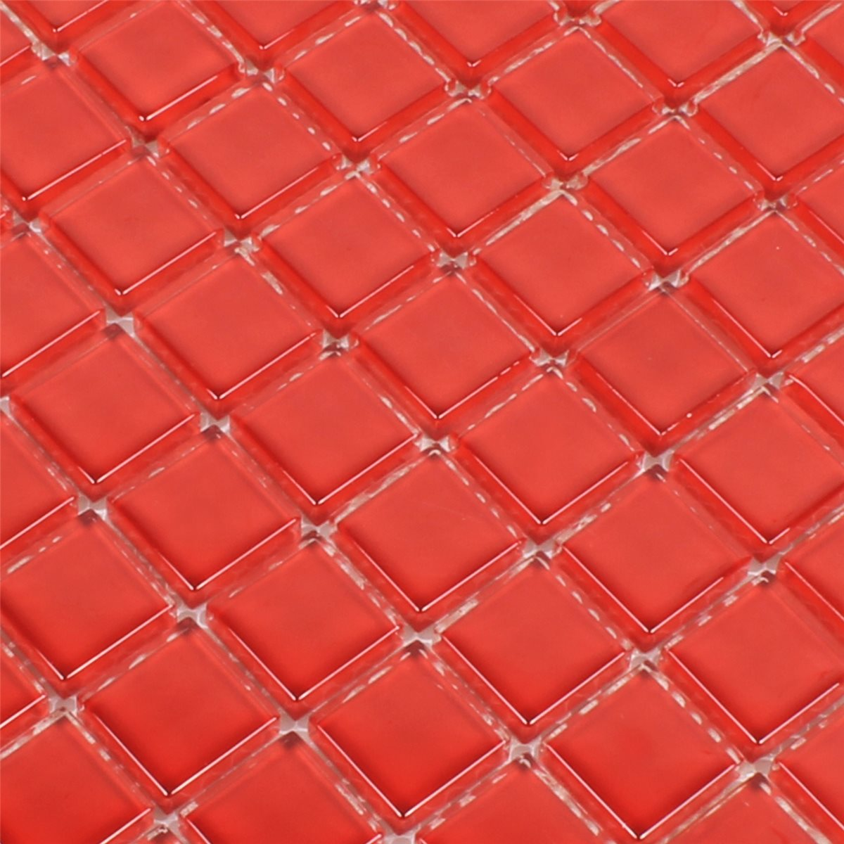 Crystal Glass Mosaic Tiles Red Pure TM33282m
