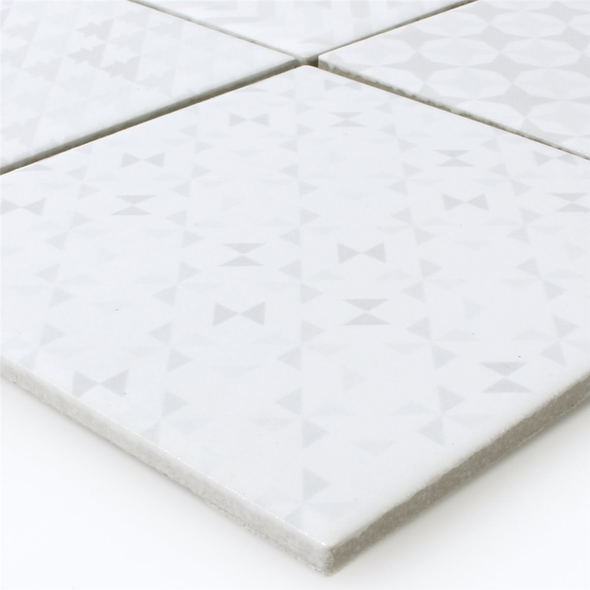Ceramic Mosaic Tiles Cement Optic Geo White Tm33290 M