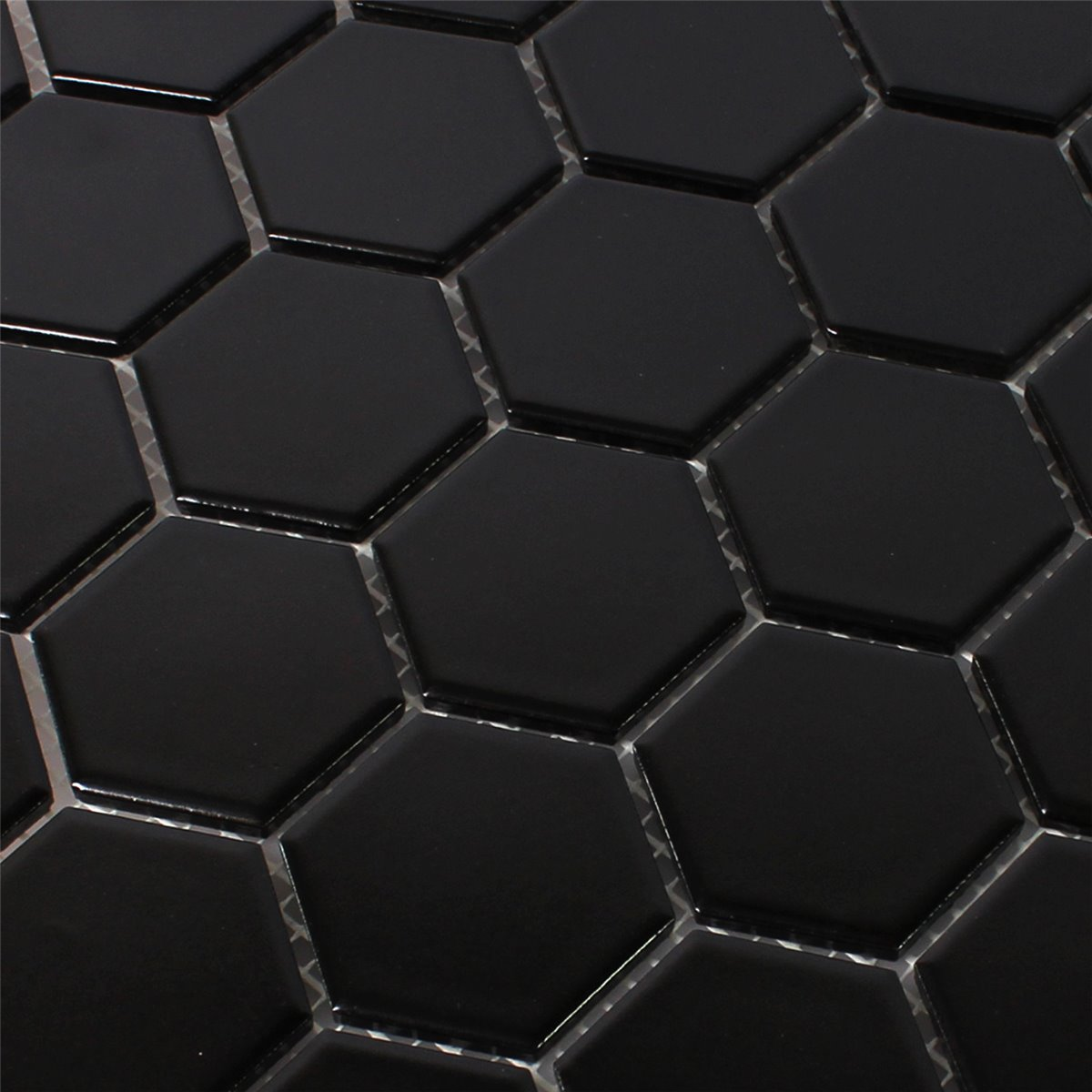 Black hexagon tile 28 images black white bathroom for Carrelage noir mat