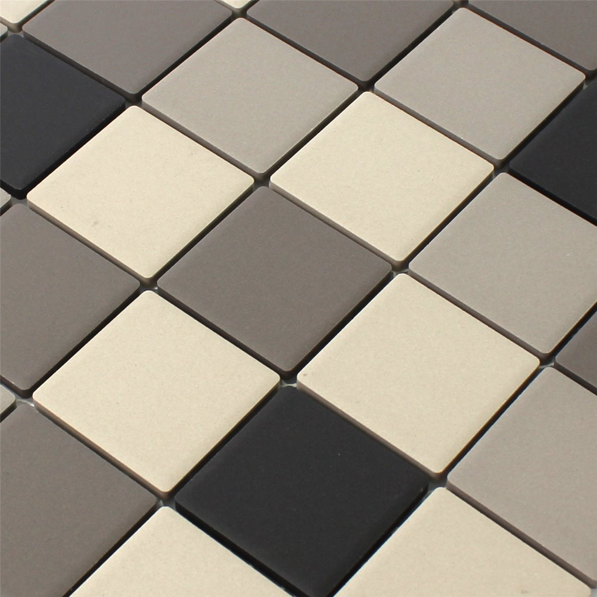 Ceramic Mosaic Tiles Grey Beige Non Slip Unglazed - TM33348