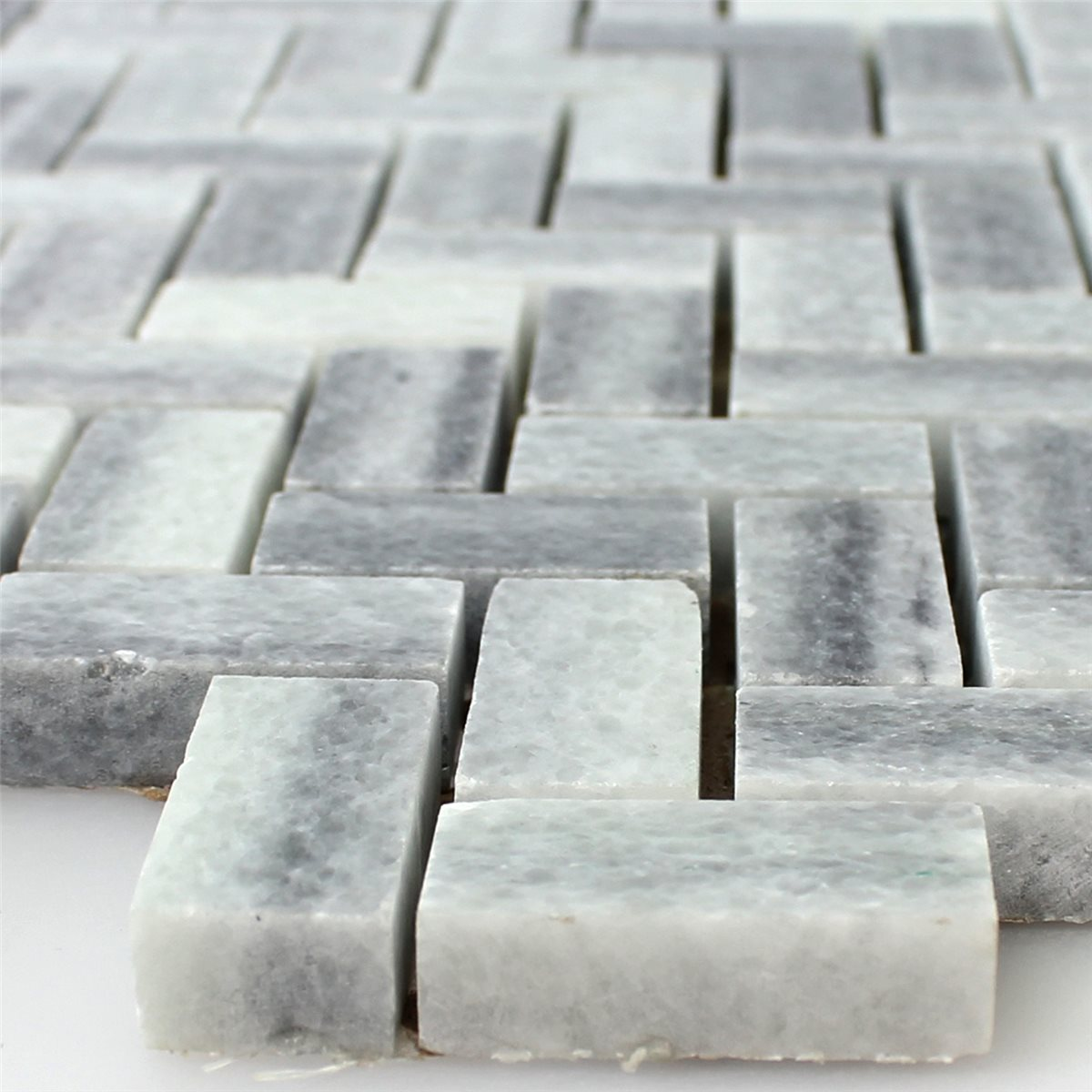Natural Stone Marble : Natural stone marble mosaic grey white polished ds
