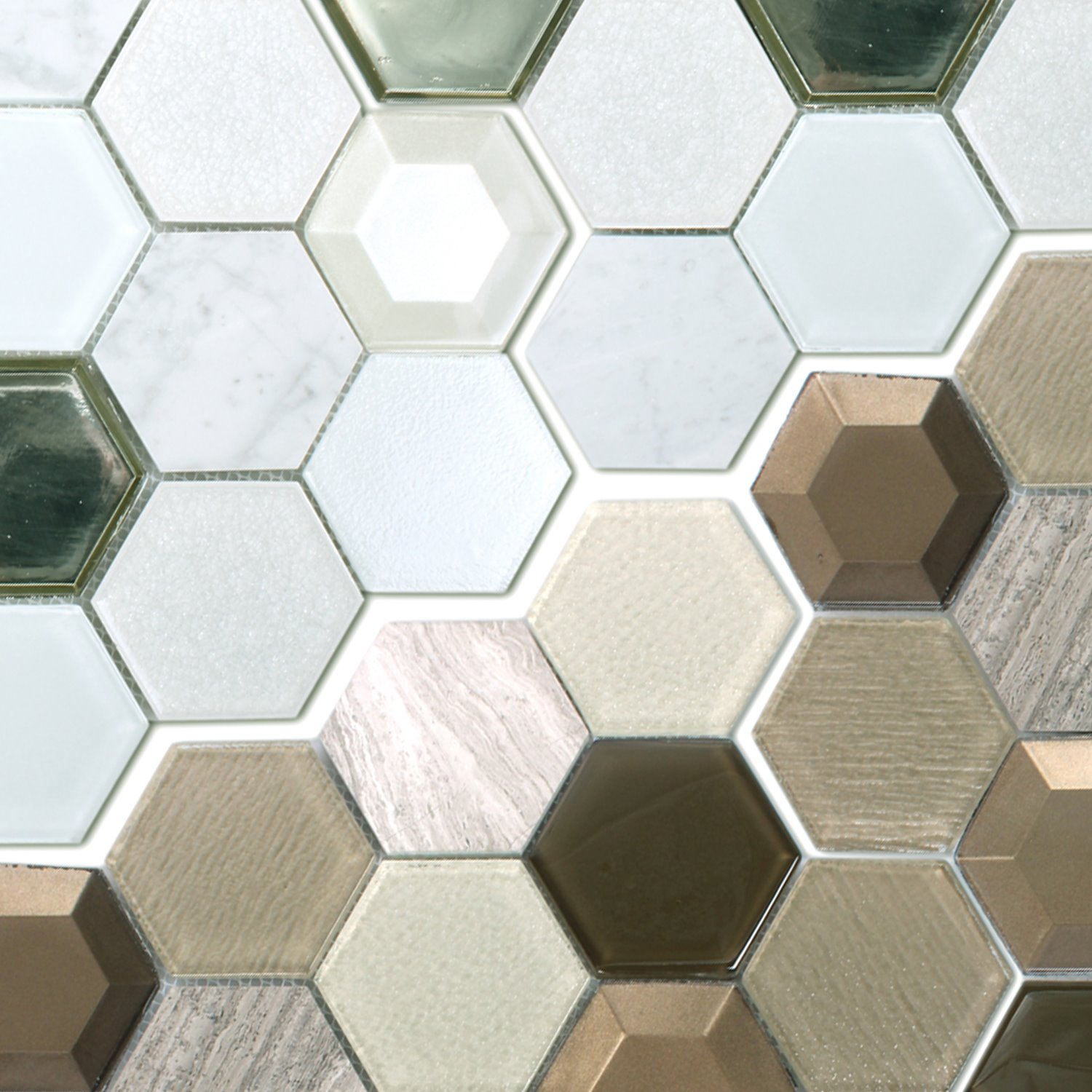 Mosaic tiles copper santorini 3d ran48046 for 3d concrete tiles
