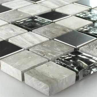 Glass Natural Stone Metal Mosaic