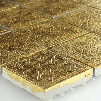 Mosaic Tiles Ceramic Gold 48x48x10mm