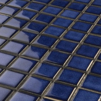 Mosaic Tiles Ceramic 25x25x4mm Blue