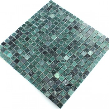 Mosaic Tiles Marble Dark Green Polished