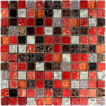 natural stone glass mosaic tiles red ornament - pl78138m, Attraktive mobel