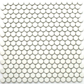 Mosaic Tiles Ceramic Drop White Uni