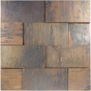 Copper Design Mosaic Tiles 3D Effect