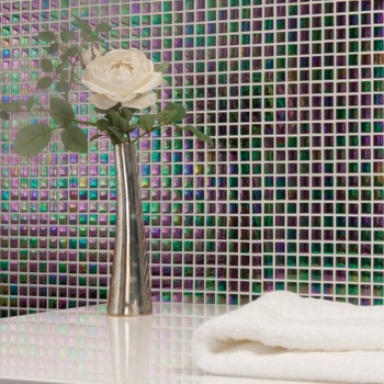 Mosaic Tiles Glass Nacre Effect Indra