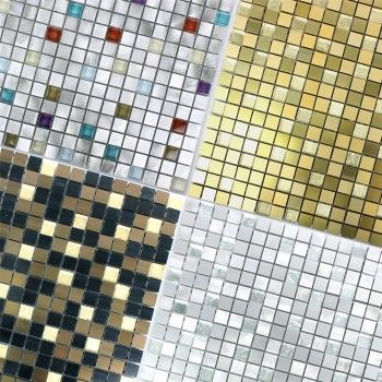 Mosaic Tiles Lissabon Aluminium Glass Mix