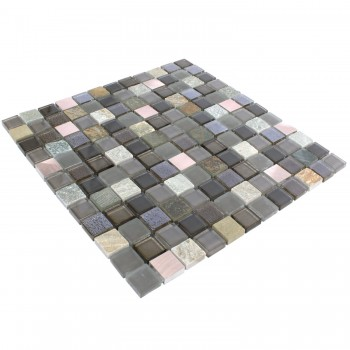 Glass Natural Stone Metal Mosaic Tiles Riksha