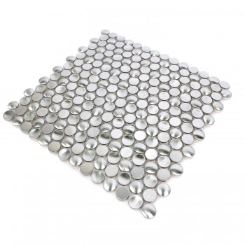 Mosaic Tiles Stainless Steel Celeus Silver Waved