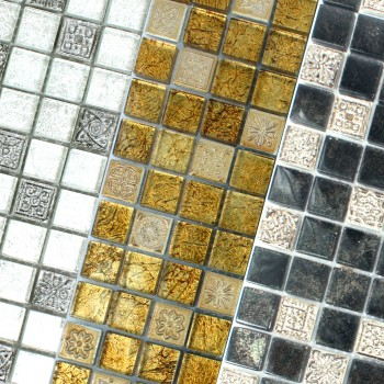 Mosaic Tiles Glass Natural Stone Coloniale