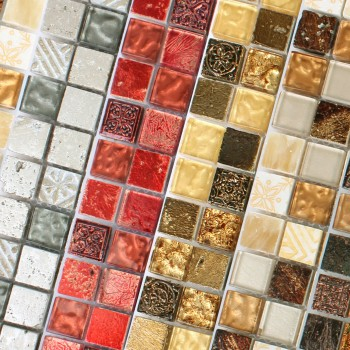 Mosaic Tiles Glass Natural Stone Maya