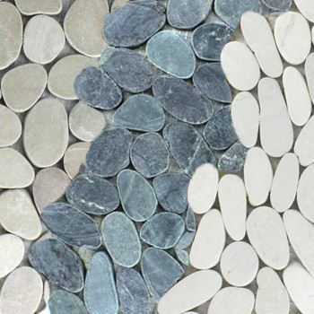 Mosaic Tiles Pebble Drancy Serrated