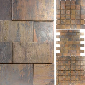 Mosaic Tiles Copper Metal Design Amadora