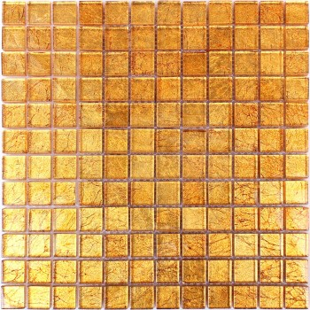 Glass Mosaic Tiles Sundown Red Gold