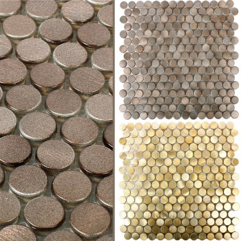 Mosaic Tiles Aluminium Metal Fantom Button