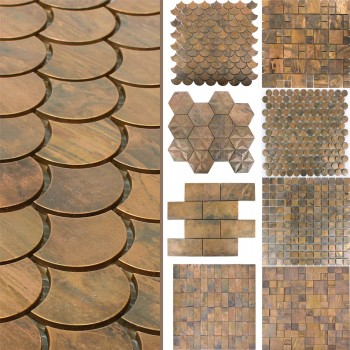 Metal Copper Mosaic Tiles Myron