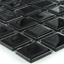 Mosaic Tiles Glass Black 25x25x4mm