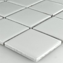 Mosaic Tiles Ceramic White Mat 48x48x6mm