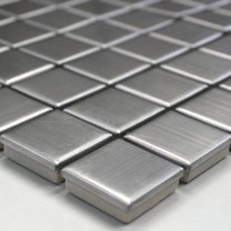 Mosaic Tiles Stainless Steel Brushed Square 23