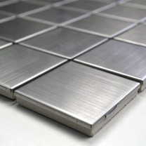 Mosaic Tiles Stainless Steel Brushed Square 48