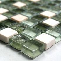 Mosaic Tiles Glass Marble Green Mix