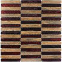 Mosaic Tiles Glass Wood Optic Porcelain Stoneware