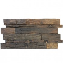 Wood Mosaic Tiles Real Wood 30x60cm Dark Brown Lacquered