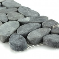 River Pebbles Border 10x30cm Anthracite Hell Pebbles