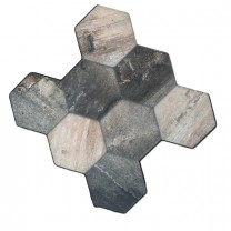Floor Tiles Hexagon Old Wood Optic 45x45cm