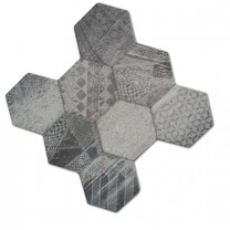 Floor Tiles Hexagon Hologram Optic 45x45cm