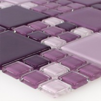 Mosaic Tiles Glass Purple Mix