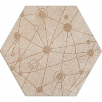 Cement Tiles Optic Decor Hexagon Atlanta Beige