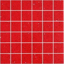 Mosaic Tiles Quartz Composite Red