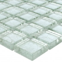 Mosaic Tiles Glass Lucca Silver 23x23x8mm