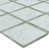 Mosaic Tiles Glass Lucca Silver 48x48x4mm