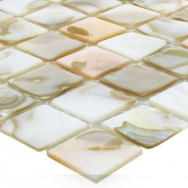 Mosaic Tiles Shell Kordon Light Beige