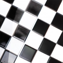 Mosaic Tiles Ceramic Monte Carlo Black White