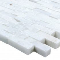 Mosaic Tiles Marble Sirocco White 3D