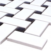 Mosaic Tiles Ceramic Sevilla White Black