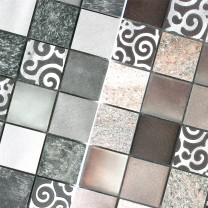 Mosaic Tiles Glass Natural Stone Aluminium Valdivia