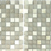 Mosaic Tiles Glass Marble Barbuda Creme